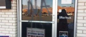 liberal domestic terrorist vandalizes North Carolina GOP office