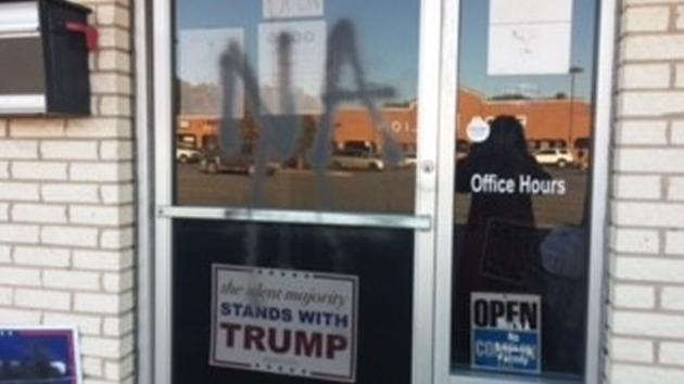 liberal domestic terrorist vandalizes North Carolina GOP office