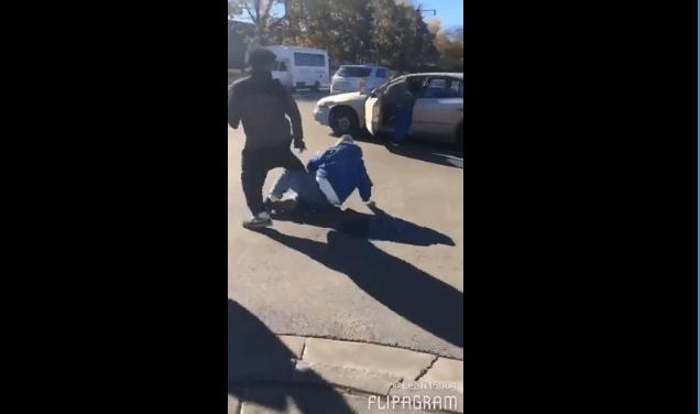 beat trump voter steal car