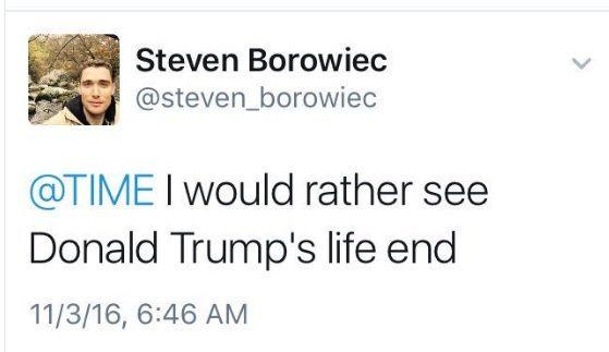 borowiec tweet trump dead