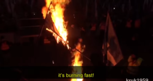 Polish patriots burn Facebook flags to protest censorship