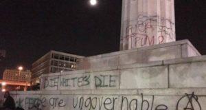 die whites die vandalism