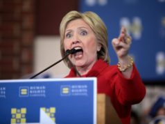 Hillary yelling civil war deplorables