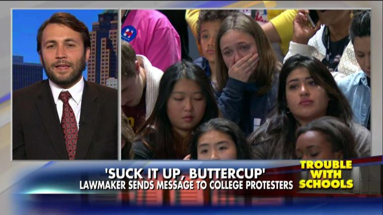 State Rep. Bobby Kaufmann proposes Suck It Up, Buttercup Act (Youtube).
