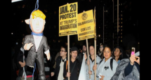 liberals hang Trump in effigy