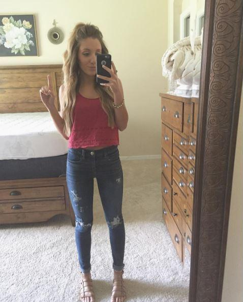 Macy Smit prior to attending a Trump rally in Florida. (Instagram)