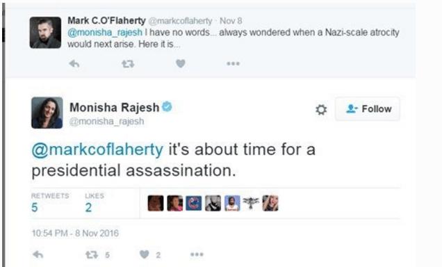Rajesh assassinate Trump