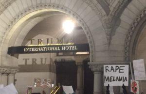 DC protester rape Melania