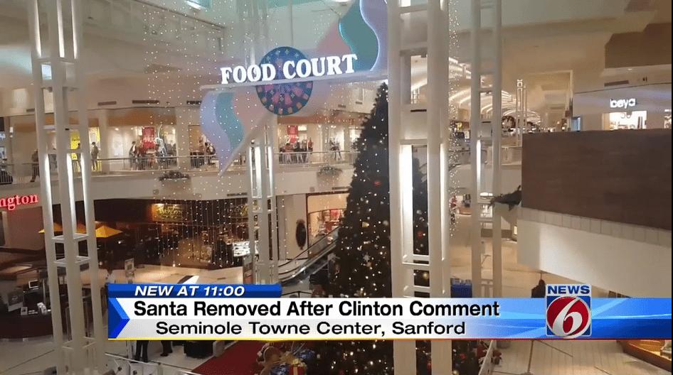 mall Santa fired