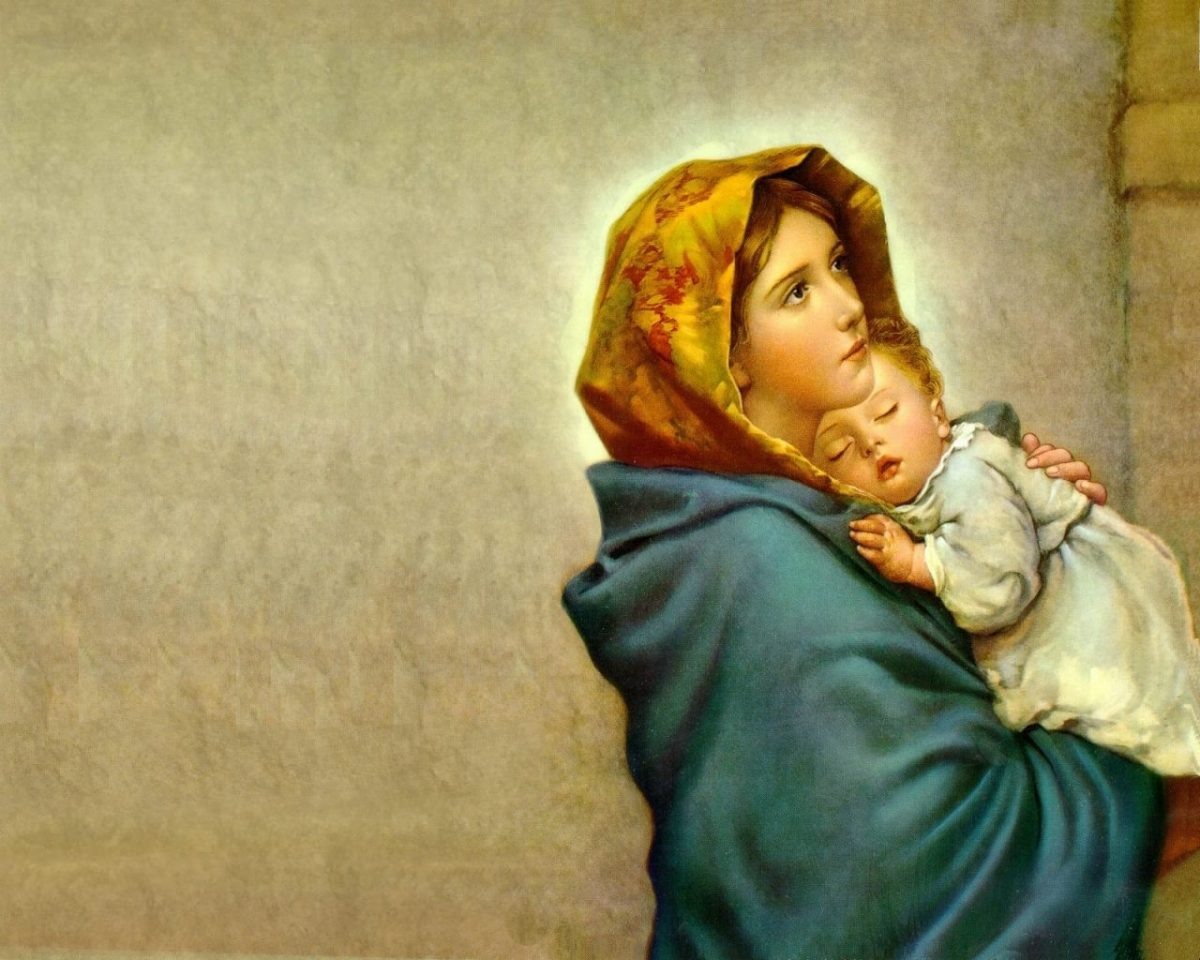 The Blessed Virgin Mary and the Christ Child. (Youtube)