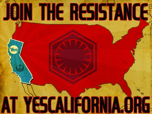 The pipe dream that is the California secession movement, aka: Calexit. (Twitter)