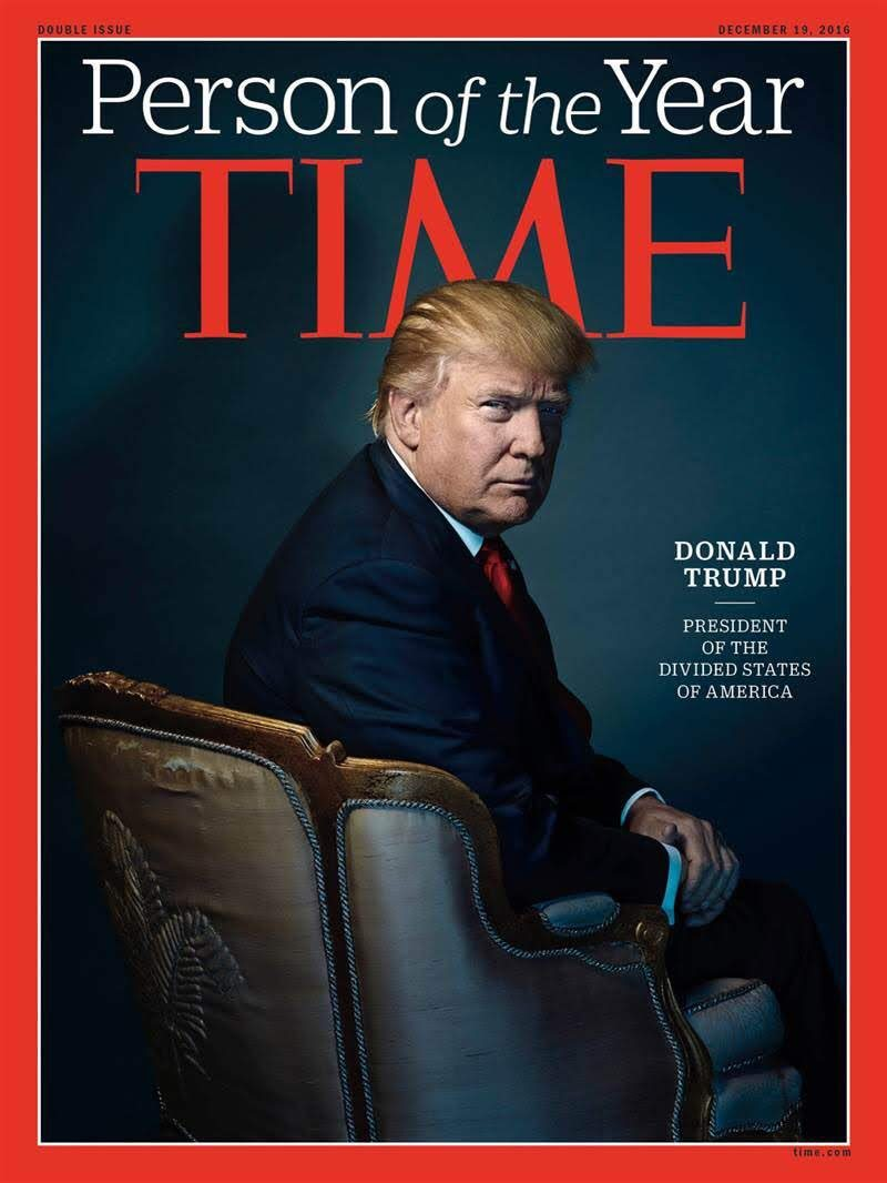 Time's Person of the Year Donald Trump. (Twitter)