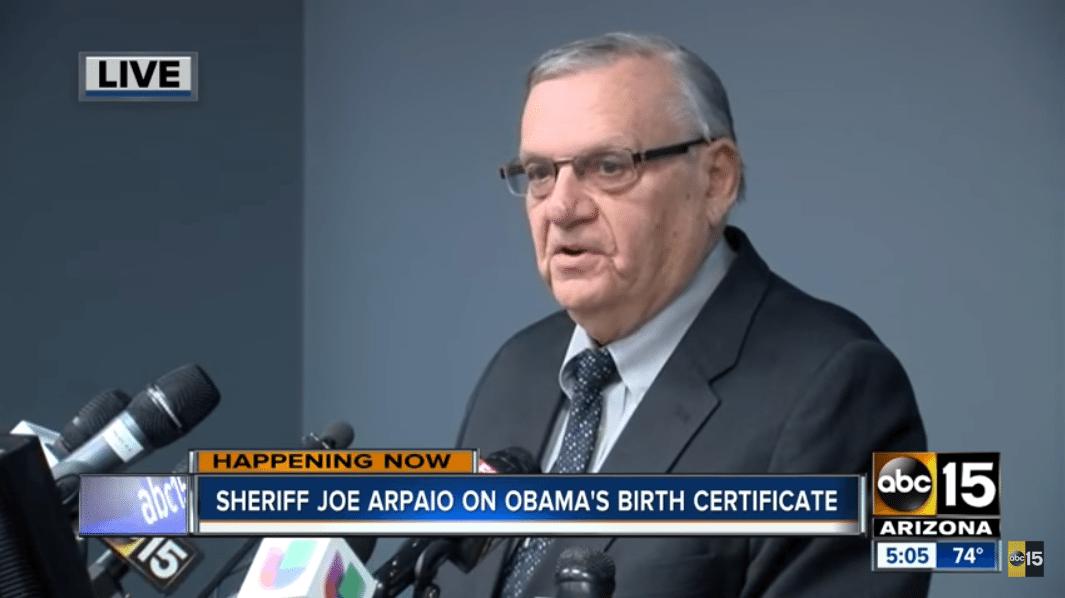 Arpaio Obama birth certificate