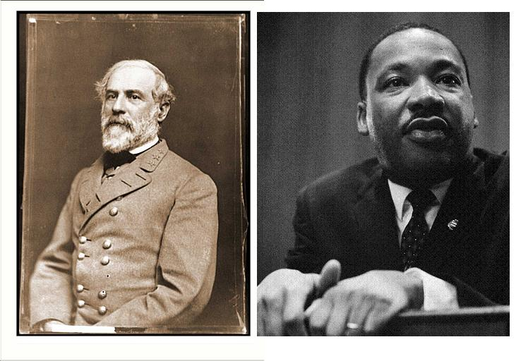 Robert E. Lee, Martin Luther King. (Wikipedia)