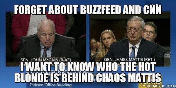 Who exactly is the hottie behind Gen. Mattis? (Twitter)