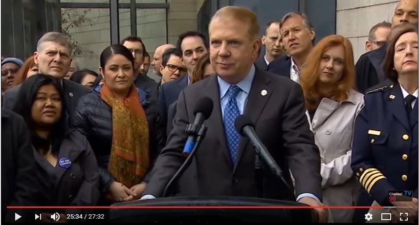 Seattle Mayor Ed Murray tried to blame guns for a murder committed almost ten years ago by a man in this country illegally. (YouTube, Channel 90)