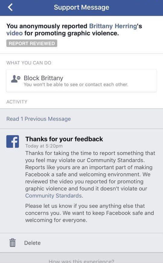 Facebook - hate crime