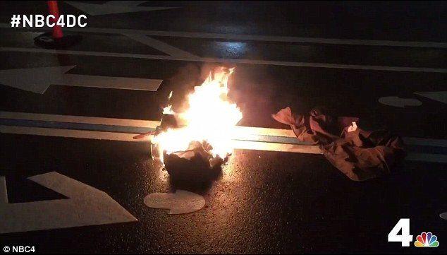 fire protest trump