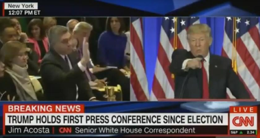 Donald Trump slaps down CNN's Jim Acosta. (Youtube)