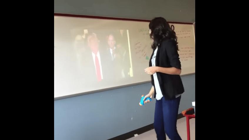 teacher dallas shoot trump
