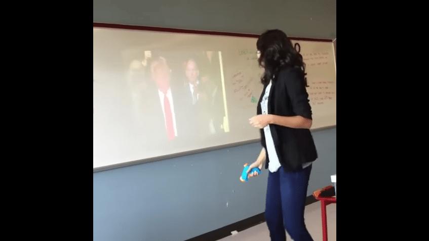 teacher dallas shoot trump
