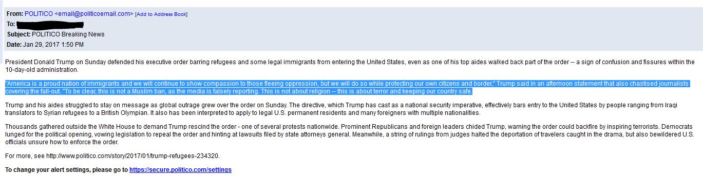Trump ban