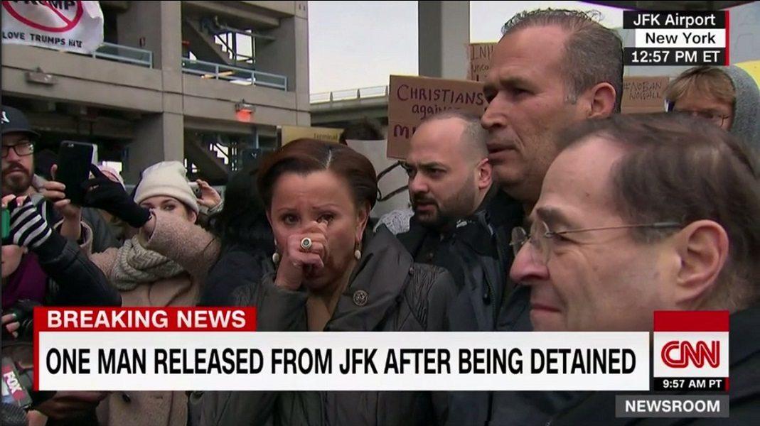 JFK protest Muslim ban