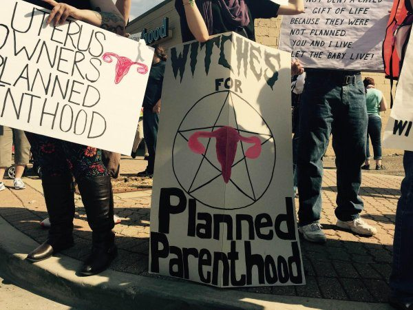 Satanists march for abortion. (Twitter)