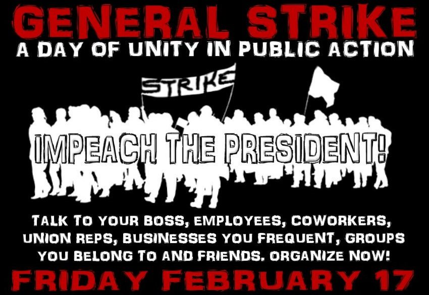 Liberals, Anarchists, Socialists Plan to Refuse to Work on February 17
