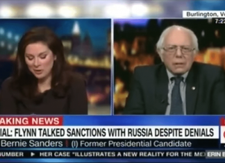 Sanders CNN fake news