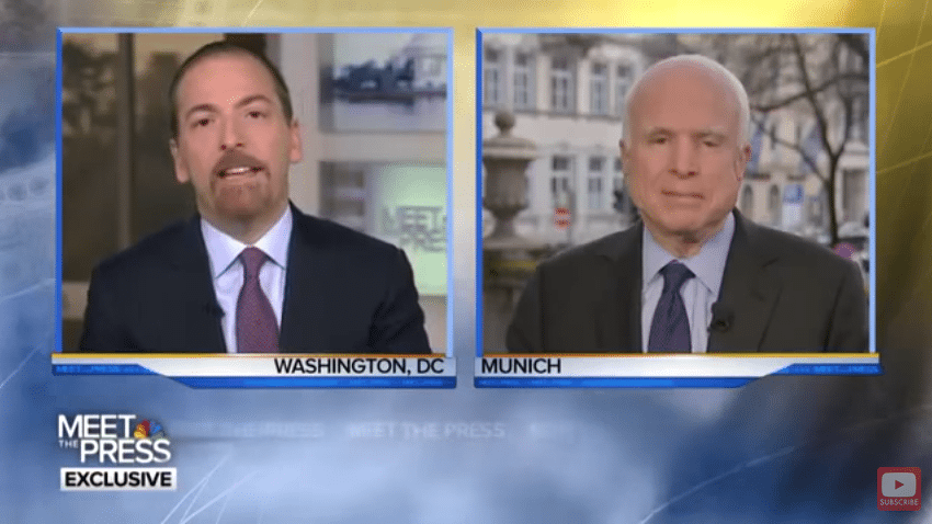 McCain dictators Trump