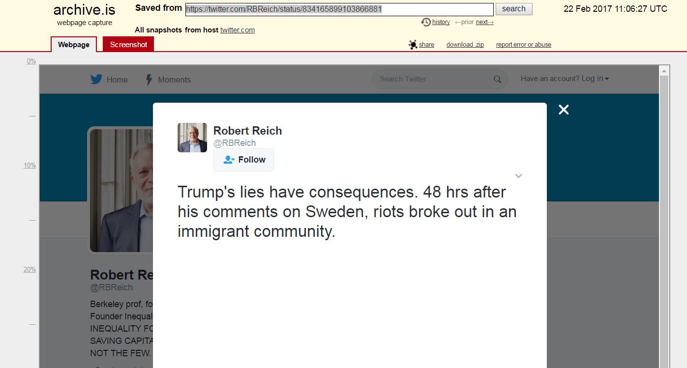 Reich tweet