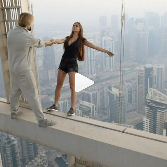Russian model defies death in Dubai. (Instagram)
