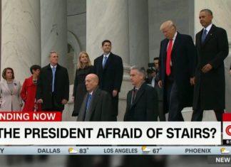 CNN Trump stairs conspiracy