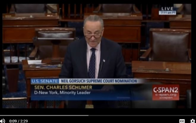 Sen. Charles Schumer. (Source: YouTube, CSPAN3)