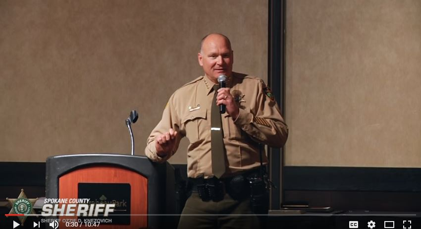 Spokane County Sheriff Ozzie Knezovich. (YouTube screen capture)