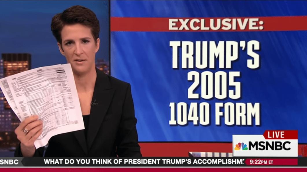 Maddow Trump taxes 1040