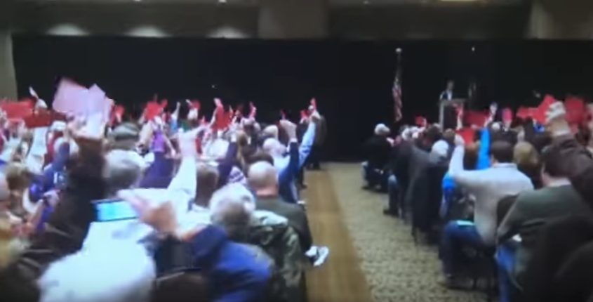 Video: Congressman Supports More Funding for Military, Booed By Leftists