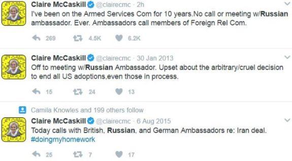 Claire McCaskill lies Russia