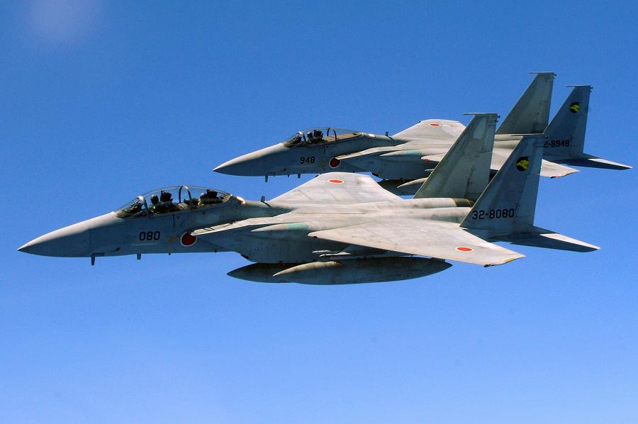 Two F-15 fighters of the Japan Self-Defense Force. (Wiki)