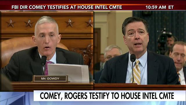 Rep. Gowdy spars with Dir. Comey. (Screen grab)