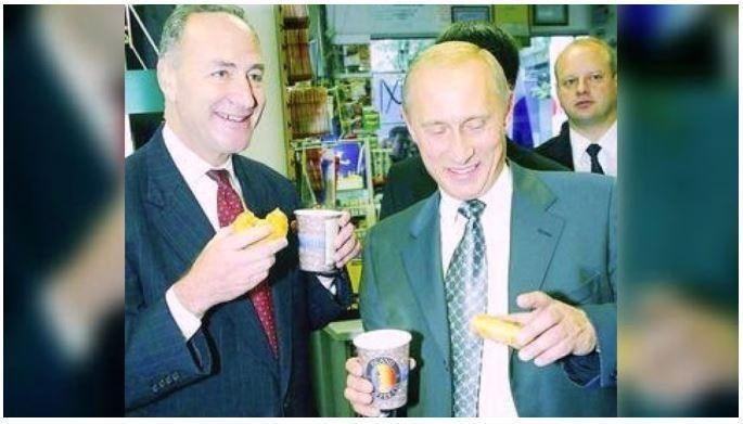 Schumer putin russia doughnut
