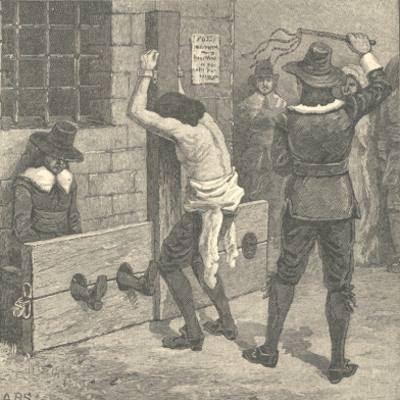 Indentured servant under the lash. (Wiki)