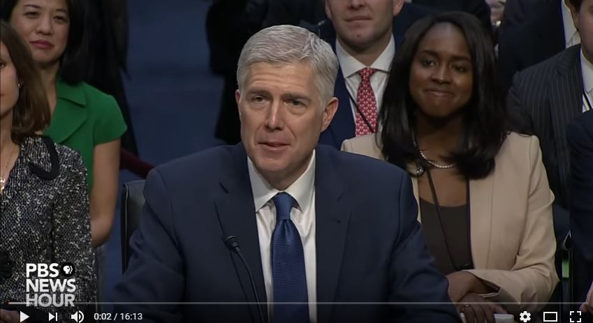 Judge Neil Gorsuch (Source: YouTube, PBS)
