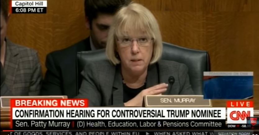 Sen. Patty Murray (D-WA) opposes Gorsuch nomination. (Screen captureL YouTube, CNN)