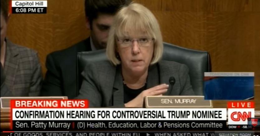 Sen. Patty Murray (D-WA) opposes Gorsuch nomination. (Screen captureL YouTube, CNN)