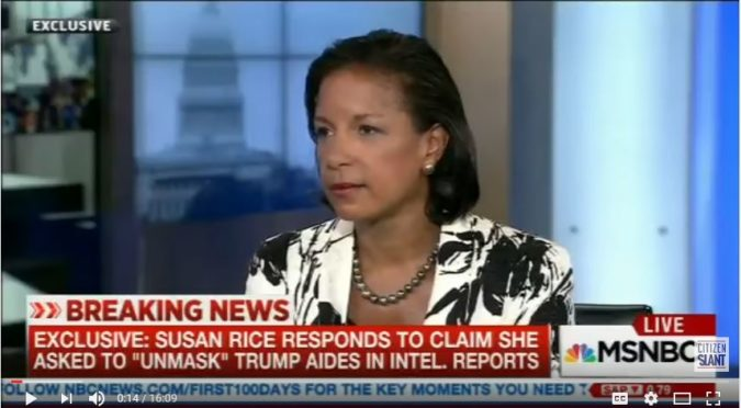Susan Rice, as she appeared on MSNBC. (YouTube, MSNBC, Citizen Slant)