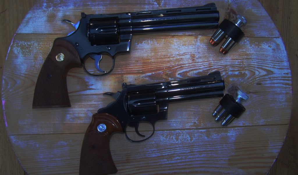 Revolvers shown with speed loaders; how long before anti-gunners target them?