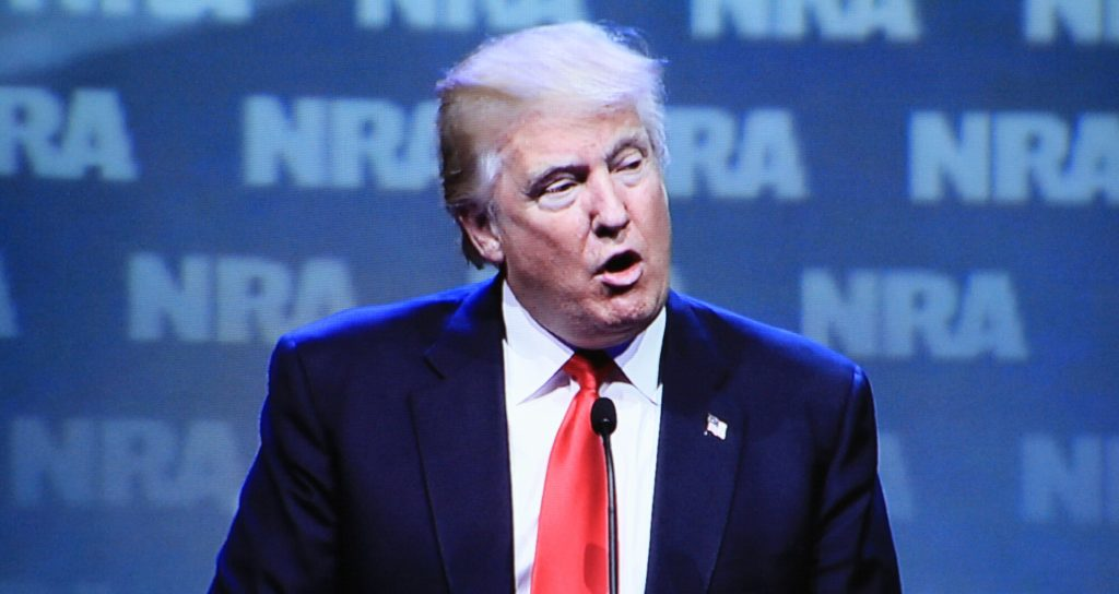 Donald Trump appeared last year at the NRA convention as a candidate. This year he returns, as president. (Dave Workman)