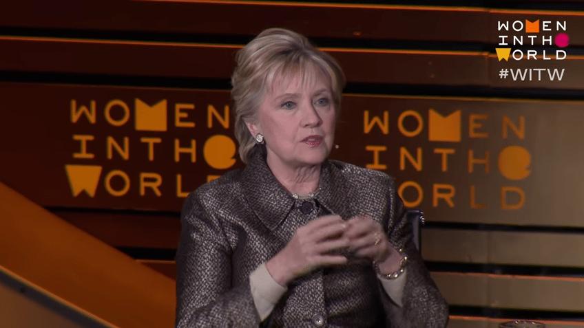 Hillary Clinton blames misogyny